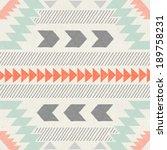 seamless ikat pattern on paper... | Shutterstock . vector #189758231
