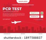 banner for pcr test information ... | Shutterstock .eps vector #1897588837