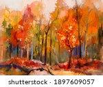 Illustration Colorful Autumn...