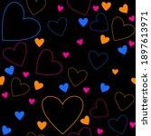 seamless simple pattern. pink ... | Shutterstock .eps vector #1897613971