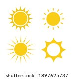 set of sun icons isolated on... | Shutterstock .eps vector #1897625737