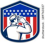 illustration of an american... | Shutterstock .eps vector #189763337