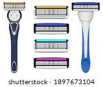 shaving blade vector design...   Shutterstock .eps vector #1897673104