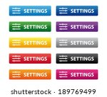 settings buttons. vector... | Shutterstock . vector #189769499