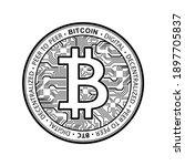 bitcoin currency crypto coin... | Shutterstock .eps vector #1897705837