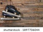 old black ice hockey skates...   Shutterstock . vector #1897706044