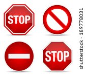 stop sign  set. | Shutterstock . vector #189778031