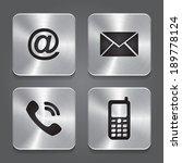 metal contact buttons   set... | Shutterstock . vector #189778124