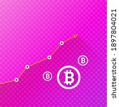vector bitcoin growth graph on...   Shutterstock .eps vector #1897804021