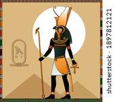religion of ancient egypt.... | Shutterstock .eps vector #1897812121