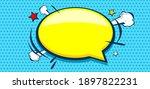 blank pop art comic background... | Shutterstock .eps vector #1897822231