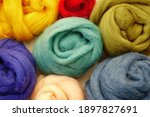Wool Of Different Colors For...
