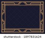 art deco frame. vintage linear...   Shutterstock .eps vector #1897831624