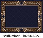 art deco frame. vintage linear...   Shutterstock .eps vector #1897831627