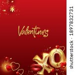 valentine's day poster or...   Shutterstock .eps vector #1897832731