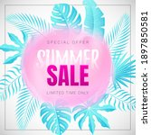 vector banner with tropical...   Shutterstock .eps vector #1897850581