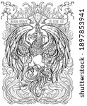 phoenix or phenix magic... | Shutterstock .eps vector #1897853941