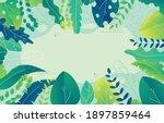 vector watercolour floral...   Shutterstock .eps vector #1897859464