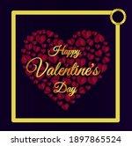 happy valentine day gift card...   Shutterstock .eps vector #1897865524