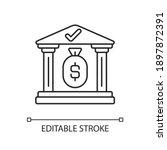 treasury linear icon.... | Shutterstock .eps vector #1897872391