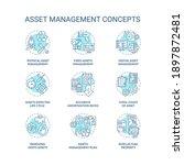 asset management concept icons... | Shutterstock .eps vector #1897872481