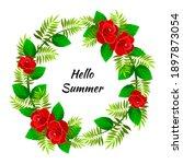 summer flowers watercolor...   Shutterstock .eps vector #1897873054