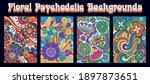 hippie art style floral... | Shutterstock .eps vector #1897873651