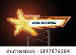light sign billboard cinema...   Shutterstock .eps vector #1897876384