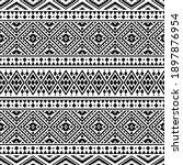 seamless aztec pattern ethnic...   Shutterstock .eps vector #1897876954