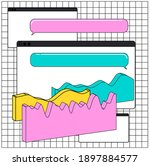 composition of abstract graphs  ... | Shutterstock .eps vector #1897884577