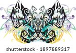 grunge abstract colorful tribal ... | Shutterstock .eps vector #1897889317
