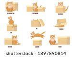 learning prepositions with help ... | Shutterstock .eps vector #1897890814