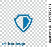 shield vector icon on an...   Shutterstock .eps vector #1897892671