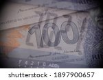 year 2021 and 100 ringgit... | Shutterstock . vector #1897900657