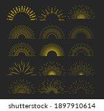 sunburst set gold style...   Shutterstock .eps vector #1897910614