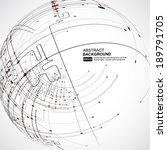 abstract background vector | Shutterstock .eps vector #189791705