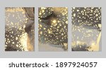 sparkling grey and gold stone... | Shutterstock .eps vector #1897924057