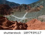 Altiplano. The Arid Desert And...