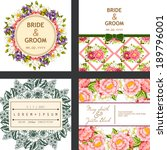 wedding invitation cards with... | Shutterstock . vector #189796001