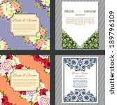 wedding invitation cards with... | Shutterstock . vector #189796109