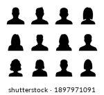 anonymous black avatars... | Shutterstock .eps vector #1897971091
