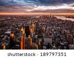 Aerial View Of The Manhattan...