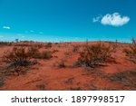 The Red Desert With Deep Blue...