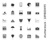 stock market icons with reflect ... | Shutterstock .eps vector #189800495