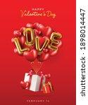 happy valentines day vector...   Shutterstock .eps vector #1898014447