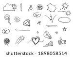 doodle vector set illustration... | Shutterstock .eps vector #1898058514