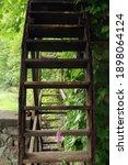 Old Wooden Waterwheel. High...