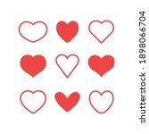 hearts icon set. valentine's... | Shutterstock .eps vector #1898066704