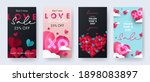 set of happy valentine's day... | Shutterstock .eps vector #1898083897