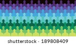 large group of people sitting... | Shutterstock .eps vector #189808409